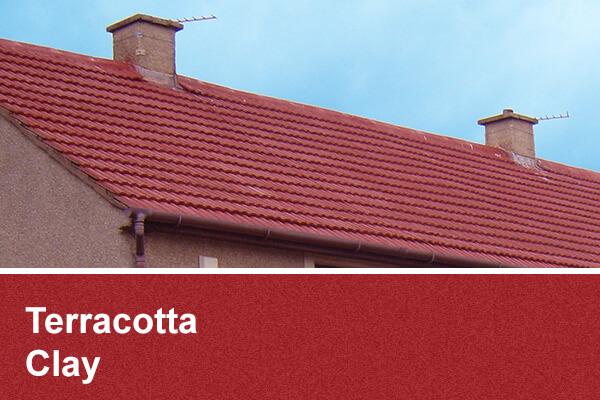 Terracotta Clay roof coating scotland